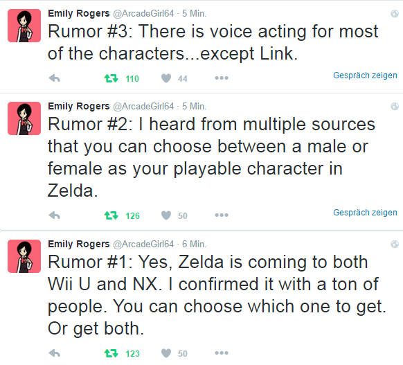 Zelda Rumors